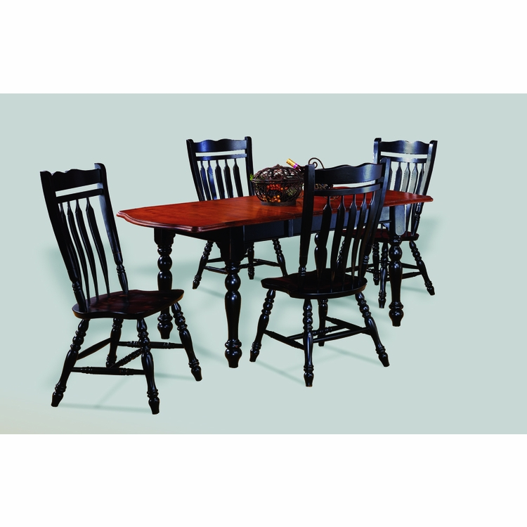 Sunset Trading - 5 Piece Drop Leaf Extension Dining Set with Aspen Chairs - DLU-TDX3472-C10-AB5PC