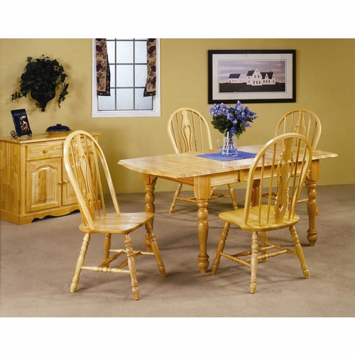 Sunset Trading - 5 Piece Drop Leaf Extension Dining Set with Keyhole Chairs - DLU-TDX3472-124S-LO5PC