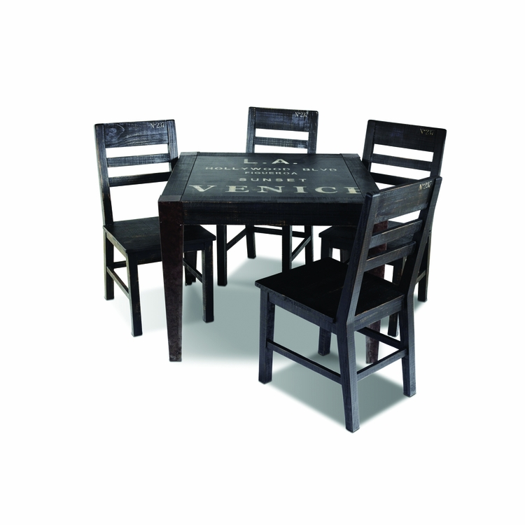Sunset Trading - 5 Piece Graphic Dining Table Set  - HH-8725-038-5PC