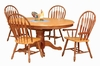 Sunset Trading - 5 Piece Pedestal Butterfly Leaf Dining Set With Two Comfort Arm Chairs - DLU-TBX4866-4130A-NLO5PC