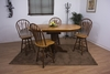 Sunset Trading - 5 Piece Pedestal Butterfly Leaf Pub Table Set with Swivel Barstools - DLU-TBX4266CB-B24-NLO5PC