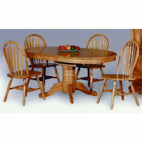 Sunset Trading - 5 Piece Pedestal Dining Set with Arrowback Chairs  - DLU-TBX4266-820-LO5PC