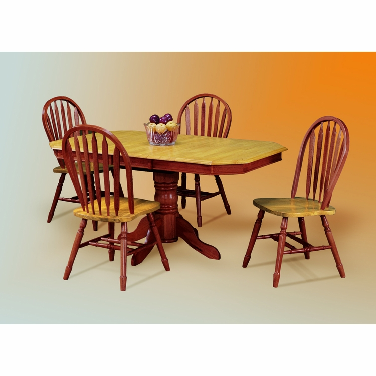 Sunset Trading - 5 Piece Pedestal Extension Dining Set with Arrowback Chairs - DLU-TCP3660-820-NLO5PC