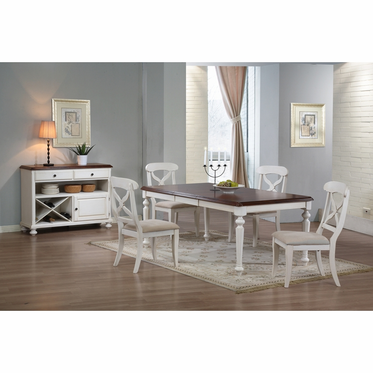 Sunset Trading - 6 Piece Andrews Butterfly Leaf Dining Table Set with Server - DLU-ADW4276-C12-SRAW6PC