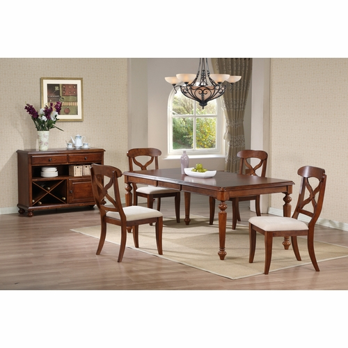 Sunset Trading - 6 Piece Andrews Butterfly Leaf Dining Table Set with Server - DLU-ADW4276-C12-SRCT6PC
