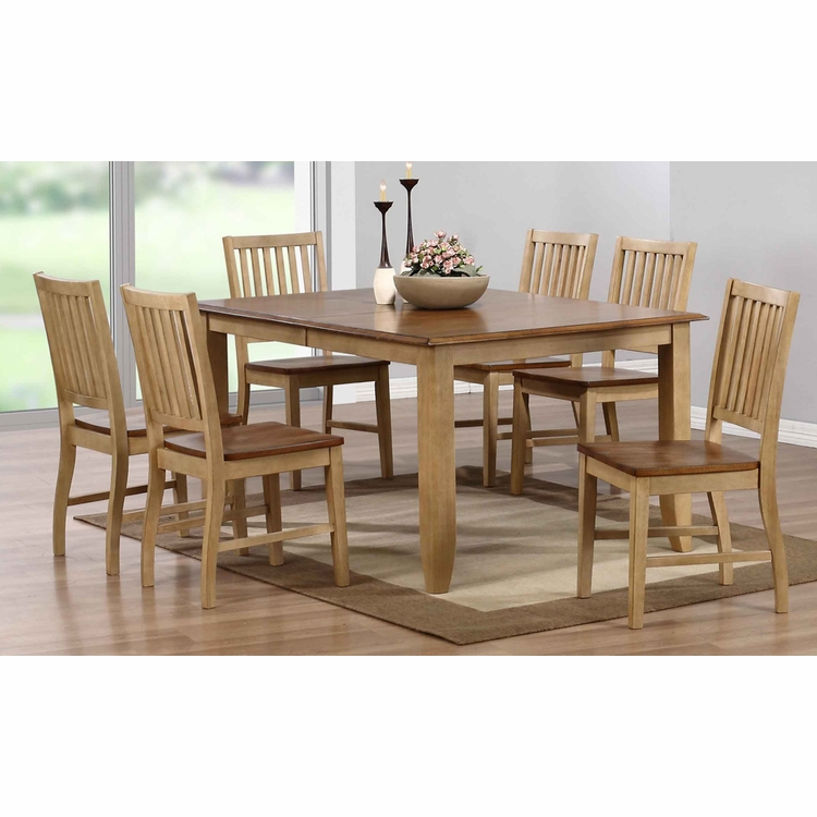 Sunset Trading - 7 Piece Brook Extension Dining Set - DLU-BR4272-C60-PW7PC