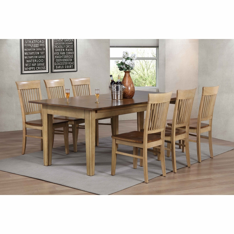 Sunset Trading - 7 Piece Brook Rectangular Extension Dining Table  - DLU-BR134-C70-PW7PC