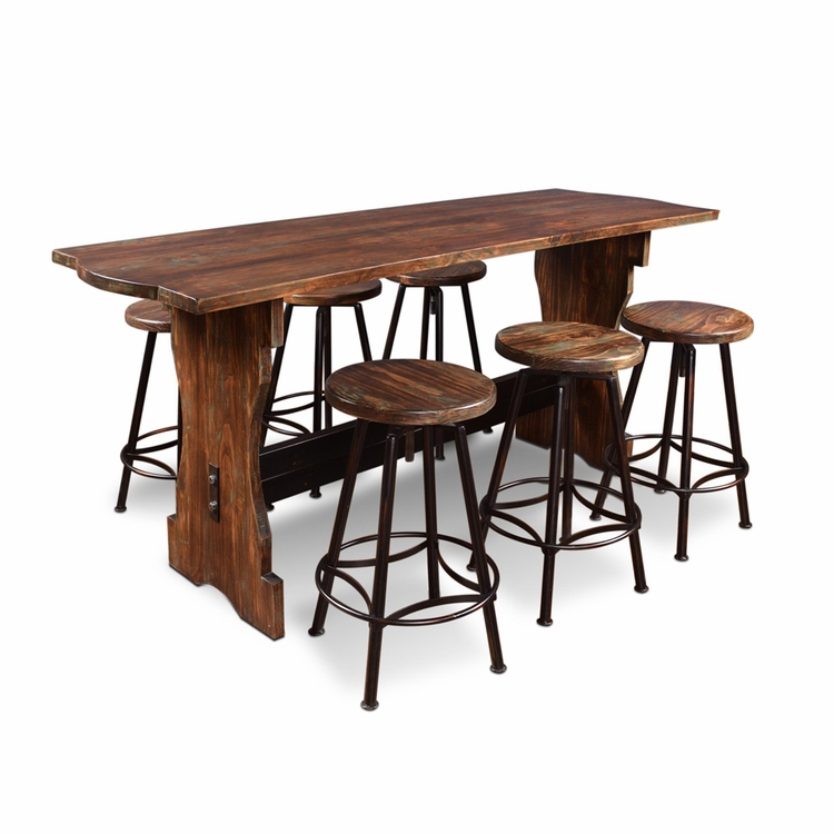 Sunset Trading - 7 Piece Cabo Counter Height Pub Table Set - HH-8014-7PC