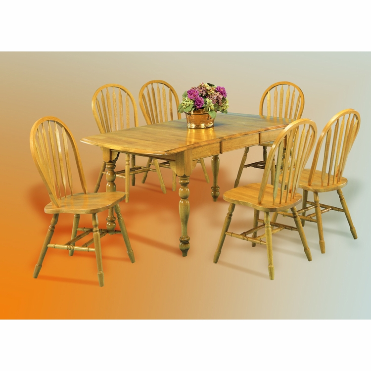 Sunset Trading - 7 Piece Drop Leaf Extension Dining Set with Arrowback Chairs - DLU-TDX3472-820-LO7PC