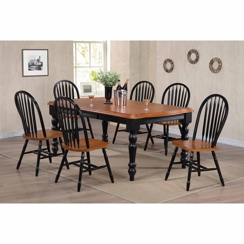 Sunset Trading - 7 Piece Extension Dining Set with Arrowback Chairs - DLU-SLT4272-820-BCH7PC