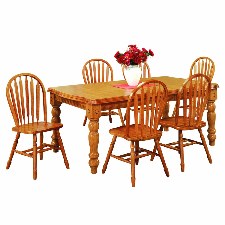 Sunset Trading - 7 Piece Extension Dining Set with Arrowback Chairs - DLU-SLT4272-820-LO7PC
