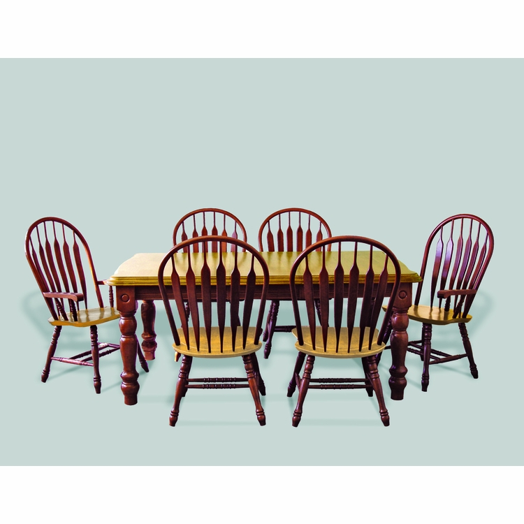 Sunset Trading - 7 Piece Extension Dining Set with Four Side Chairs and Two Arm Chairs - DLU-SLT4272-4130A-NLO7PC