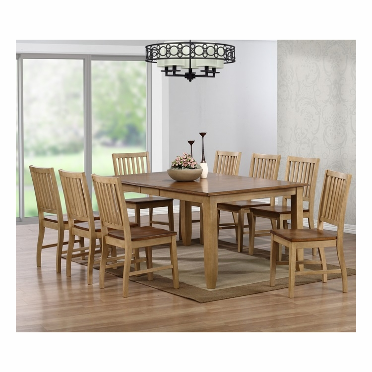 Sunset Trading - 9 Piece Brook Extension Dining Set - DLU-BR4272-C60-PW9PC