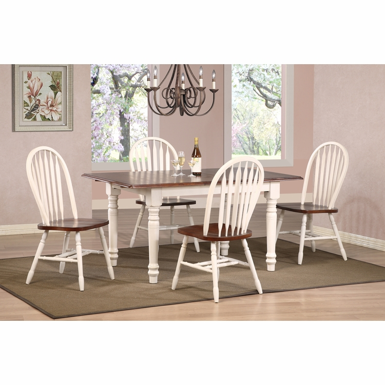 Sunset Trading - Andrews 5 Piece Butterfly Dining Set with Arrowback Chairs  - DLU-TLB3660-820-AW5PC