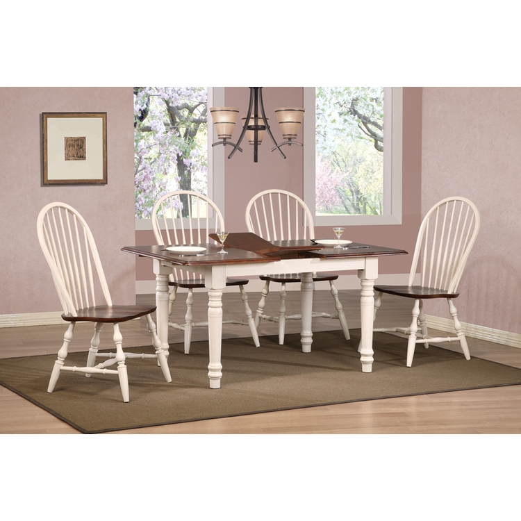 Sunset Trading - Andrews 5 Piece Butterfly Dining Set with Windsor Spindleback Chairs - DLU-TLB3660-C30-AW5PC