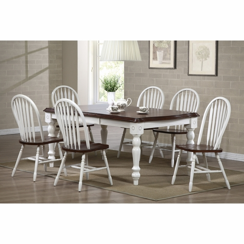 Sunset Trading - Andrews 7 Piece Extension Dining Set with Arrowback Chairs - DLU-SLT4272-820-AW7PC