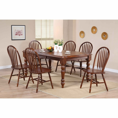 Sunset Trading - Andrews 7 Piece Extension Dining Set with Arrowback Chairs - DLU-SLT4272-820-CT7PC