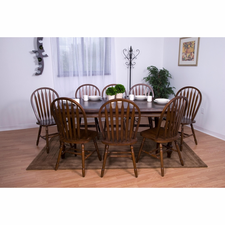 Sunset Trading - Andrews 9 Piece Extension Dining Set with Arrowback Chairs  - DLU-SLT4272-820-CT9PC