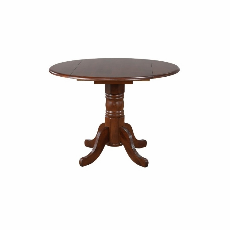 Sunset Trading - Andrews Round Drop Leaf Dining Table In Chestnut -  DLU-ADW4242-CT