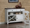 Sunset Trading - Andrews Server in Antique White with Chestnut Top - DLU-ADW-SER-AW