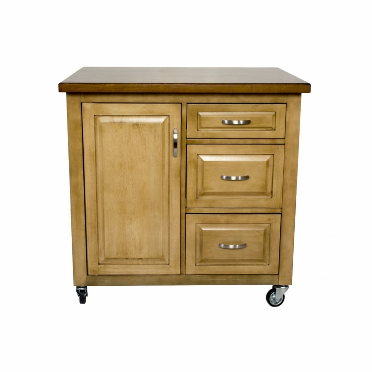 Sunset Trading - Brook Kitchen Cart - PK-CRT-04-PW