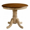 Sunset Trading - Brook Round Pedestal Dining Table - DLU-BR3636-PW