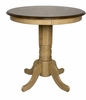 Sunset Trading - Brook Round Pub Pedestal Dining Table  - DLU-BR3636CB-PW