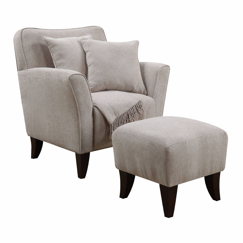 Outstanding Sunset Trading Cozy Accent Chair With Ottoman Pillows And Throw Su Ulc170 100 Pdpeps Interior Chair Design Pdpepsorg