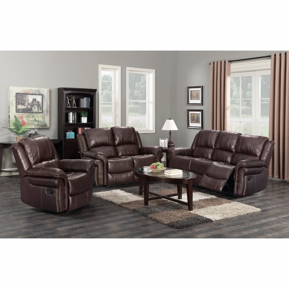 Sunset Trading - Glorious 3 Piece Living Room Setdual Reclining Sofa And  Loveseat Manual Reclining Chair - SU-GL-U9521-3PC