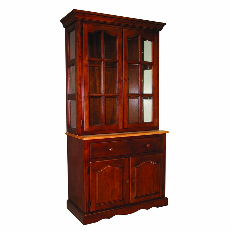 Sunset Trading - Keepsake Buffet and Lighted Hutch  - DLU-19-BH-NLO