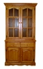 Sunset Trading - Keepsake Buffet and Lighted Hutch in Light Oak Finish - DLU-19-BH-LO
