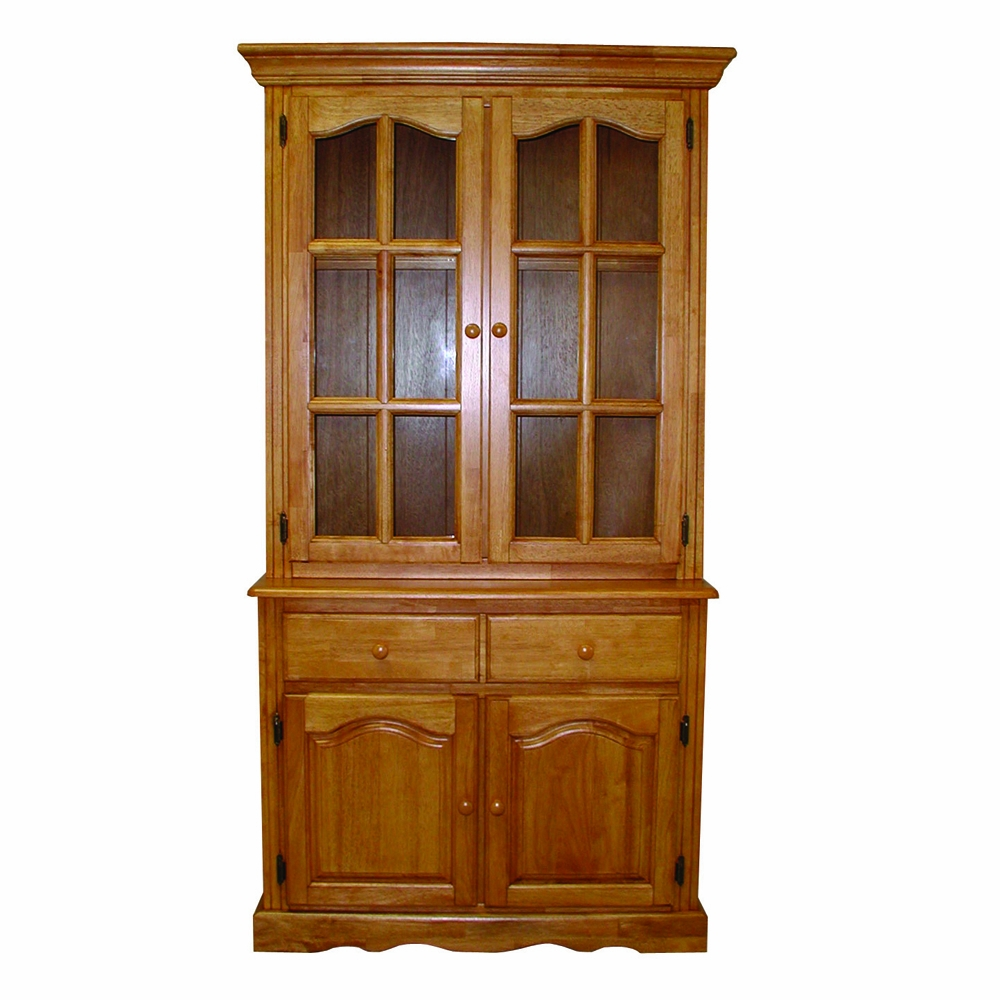 Sunset Trading Keepsake Buffet And Lighted Hutch In Light Oak Finish Dlu 19 Bh Lo