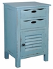 Sunset Trading - Shabby Chic Cottage Beach Blue Accent Table - CC-CHE512LD-BB