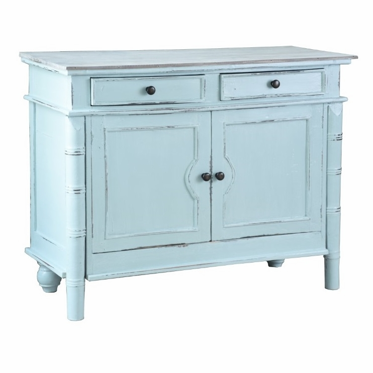 Sunset Trading - Shabby Chic Cottage Beach Blue Cabinet Buffet ...