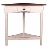 Sunset Trading - Shabby Chic Cottage Corner Table Distressed White Raftwood - CC-TAB179TLD-WWRW