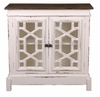 Sunset Trading - Shabby Chic Cottage Lattice Cabinet - CC-CHE301TLD-WWRW