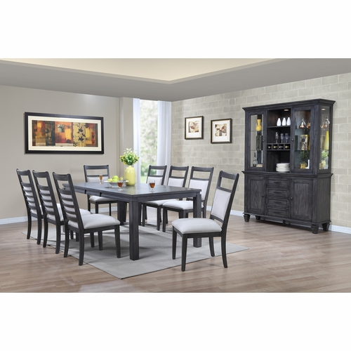 Sunset Trading - Shades of Gray 11 Piece Dining Set with China Cabinet - DLU-EL9282-C90-BH11PC
