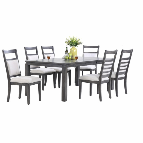 Sunset Trading - Shades of Gray 7 Piece Dining  Set - DLU-EL9282-C90-7PC