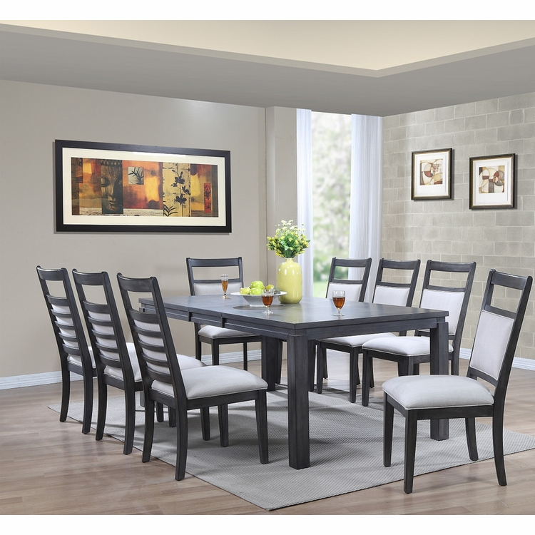 Sunset Trading - Shades of Gray 9 Piece Dining Set - DLU-EL9282-C90-9PC