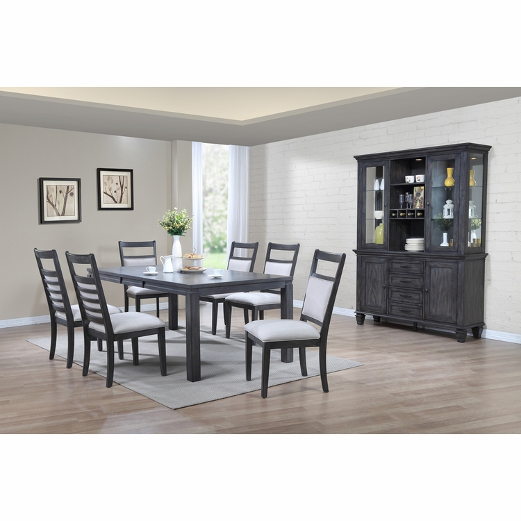 Sunset Trading - Shades of Gray 9 Piece Dining Set with China Cabinet - DLU-EL9282-C90-BH9PC