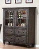 Sunset Trading - Shades of Gray One Piece China Cabinet - DLU-EL-DS