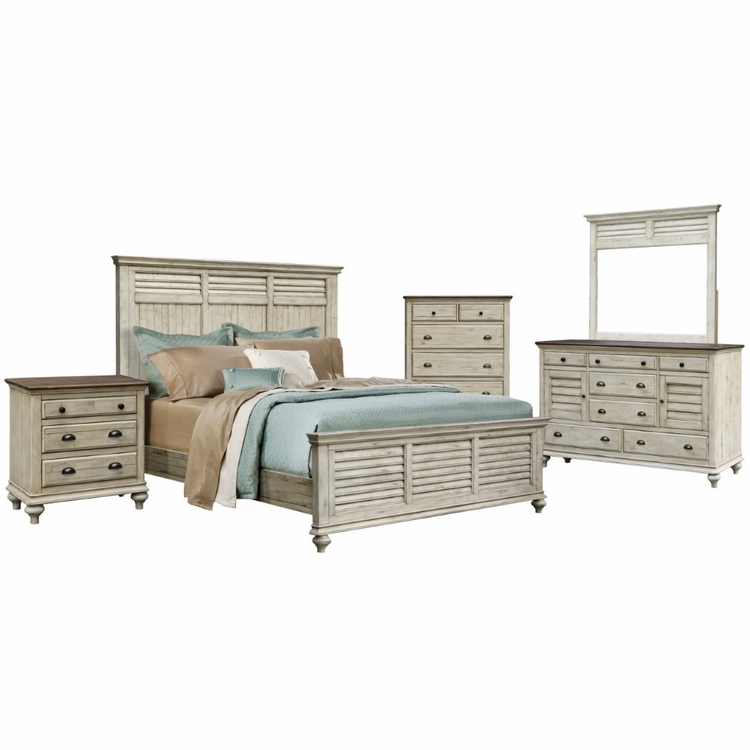 Sunset Trading - Shades Of Sand 5 Piece King Bedroom Set -  CF-2302-0489-K-5PC