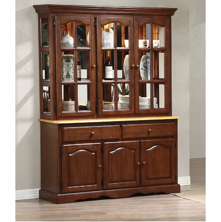 Sunset Trading - Treasure Buffet and Lighted Hutch - DLU-22-BH-NLO