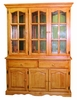 Sunset Trading - Treasure Buffet and Lighted Hutch in Light Oak Finish - DLU-22-BH-LO