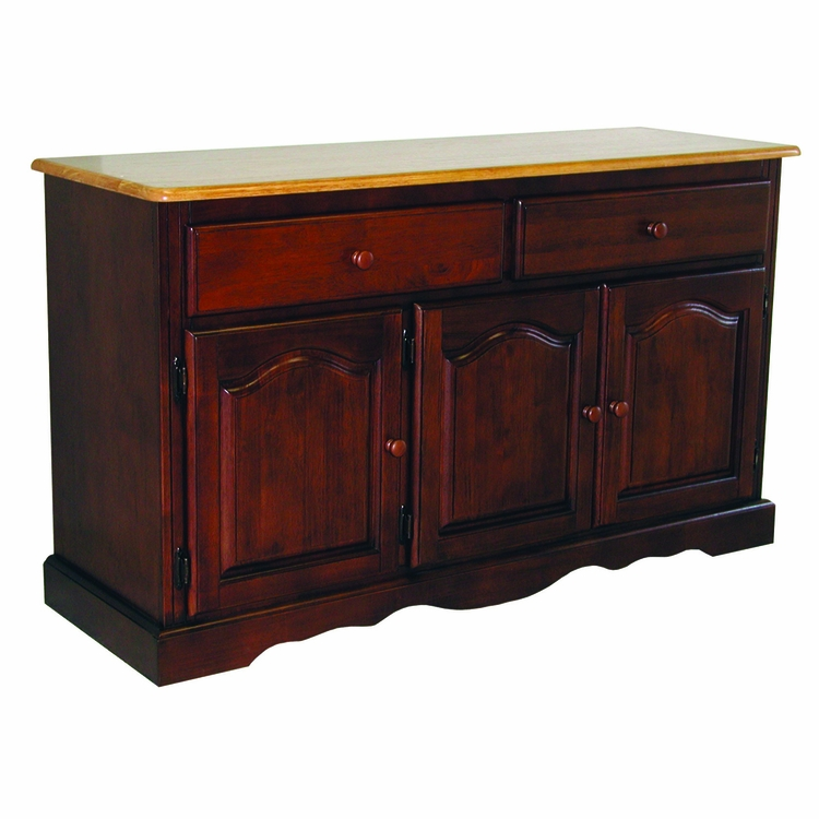 Sunset Trading - Treasure Buffet in Nutmeg Light Oak Finish - DLU-22-BUF-NLO