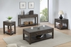 Sunset Tradingshades Of Gray Coffee Console And End Table Set With Drawers And Shelves - DLU-EL1602-03-04-08