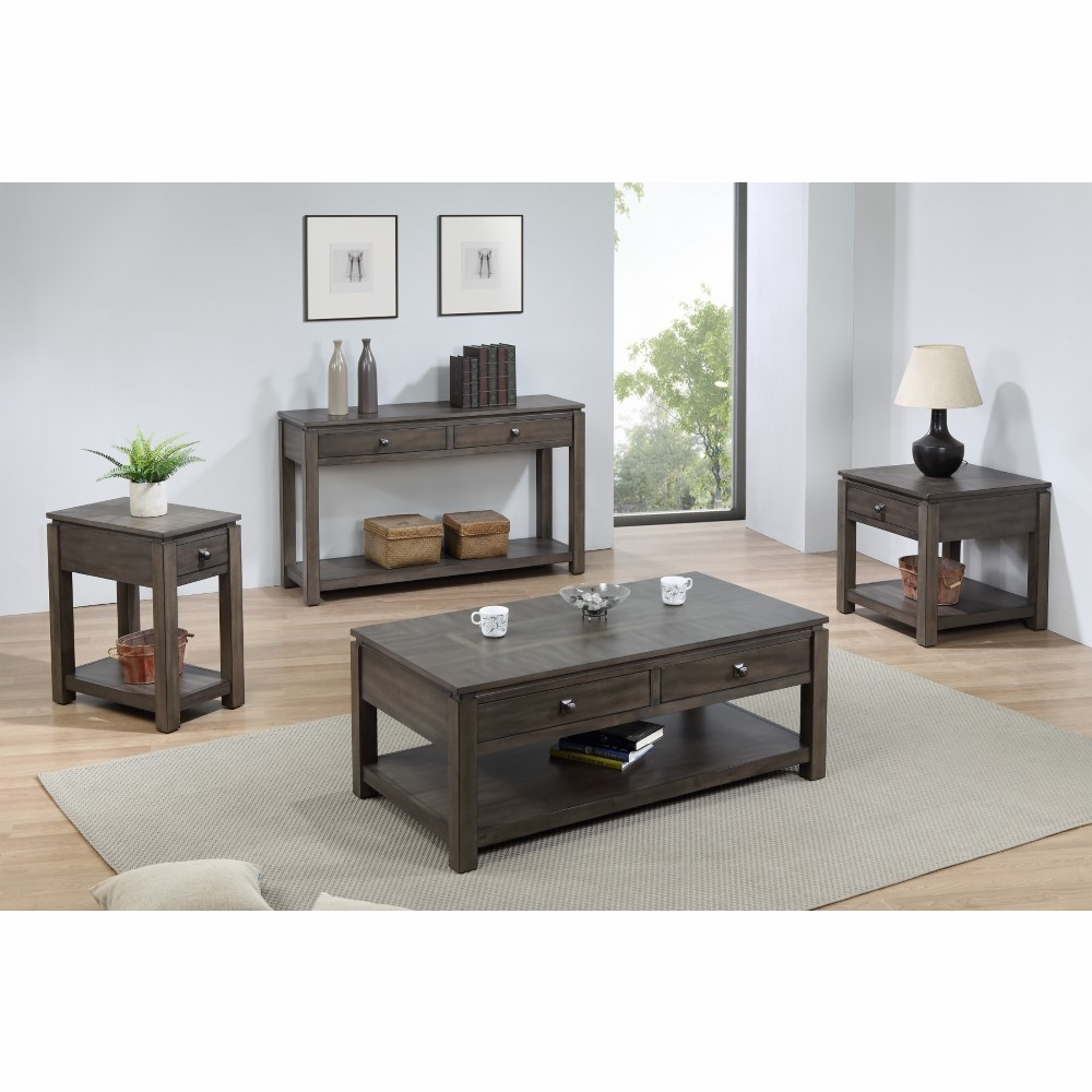 Gray Coffee Console And End Table Set