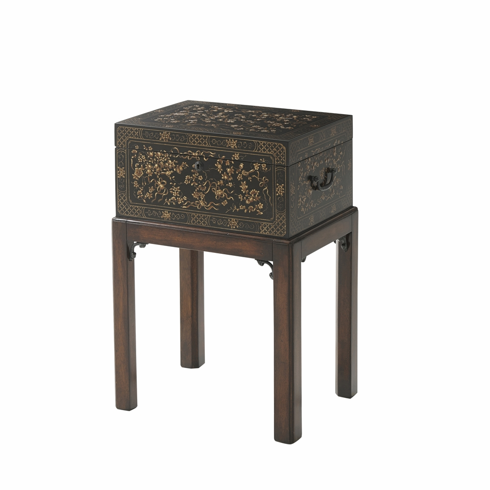 - Theodore Alexander - The Floral Painted Box Accent Table - 1102-157