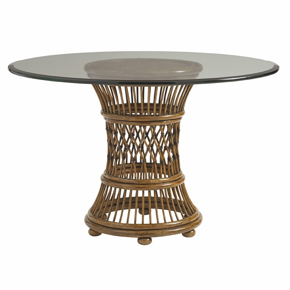 Tommy Bahama Home Bali Hai Aruba Round Dining Table With 36 Inch Glass Top 01 0593 870 36c