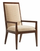 Tommy Bahama Home - Island Fusion Natori Slat Back Arm Chair in Gold Geometric Fabric - 01-0556-881-01